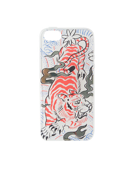 Tiger print iPhone 5/5S case