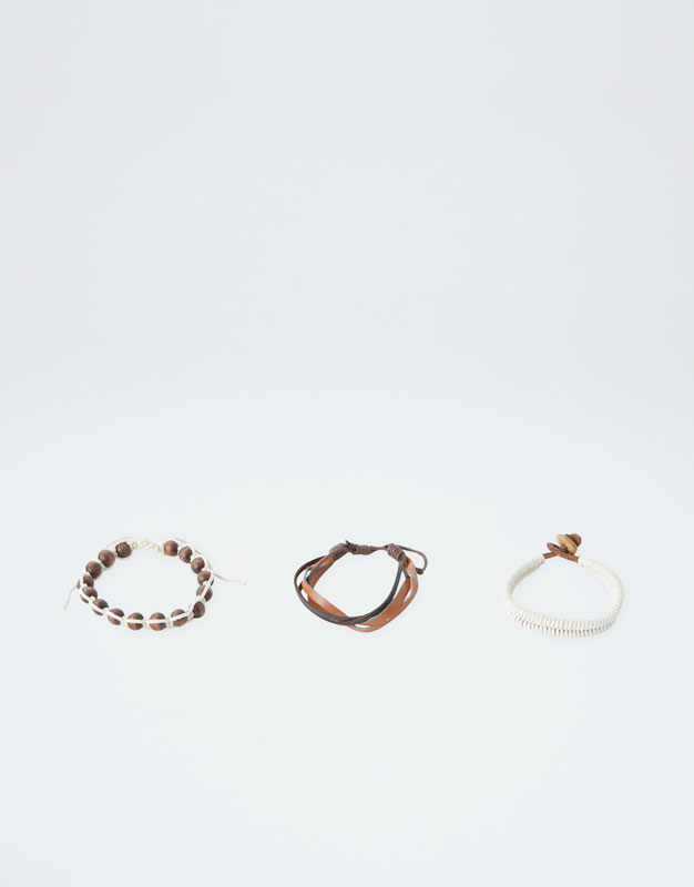 Lot De Bracelets Bois by Pull & Bear