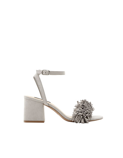 Embellished mid-heel sandals