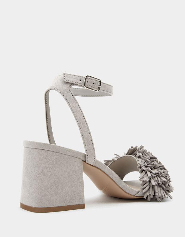 15ddc854e Embellished mid-heel sandals - PULL BEAR