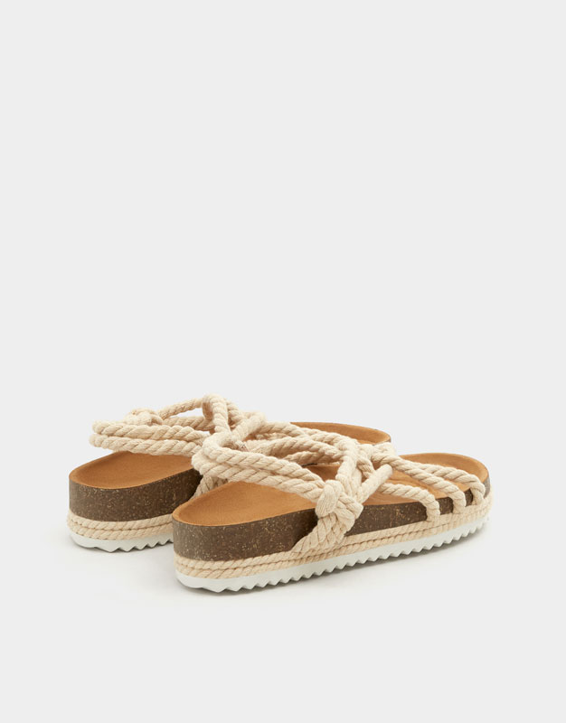 98c1ad21dd9 Fashion sandals with rope - PULL BEAR