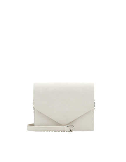 Basic white crossbody bag