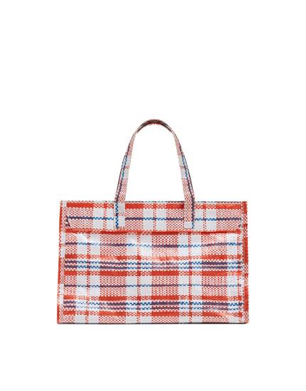Check mini tote bag