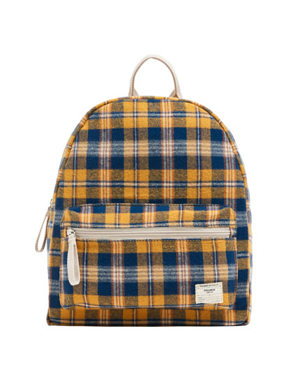 Check print backpack