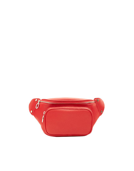 Red urban belt bag