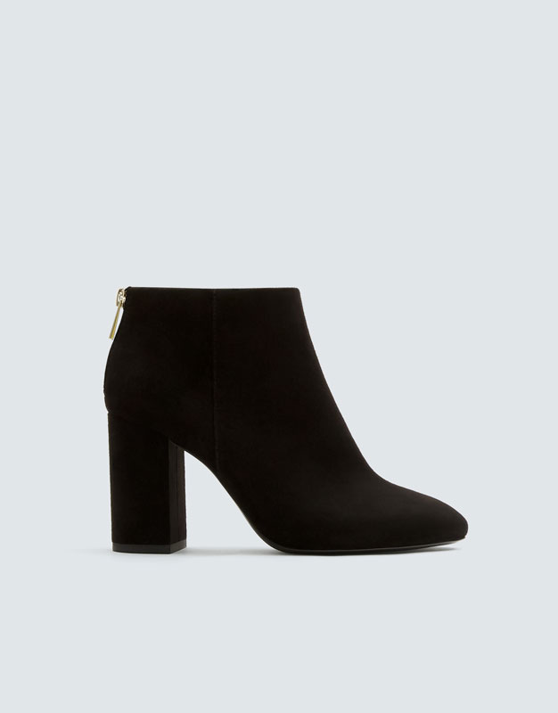 Basic Black High Heel Ankle Boots by Pull & Bear