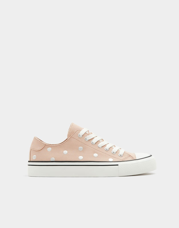 Sneakers With Polka Dot Embroidery by Pull & Bear