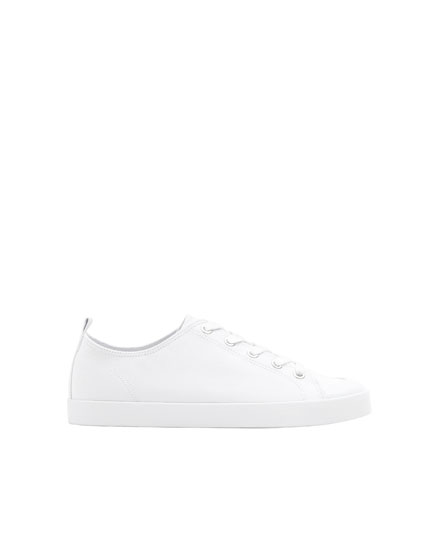 Fabric sneakers with toe cap detail