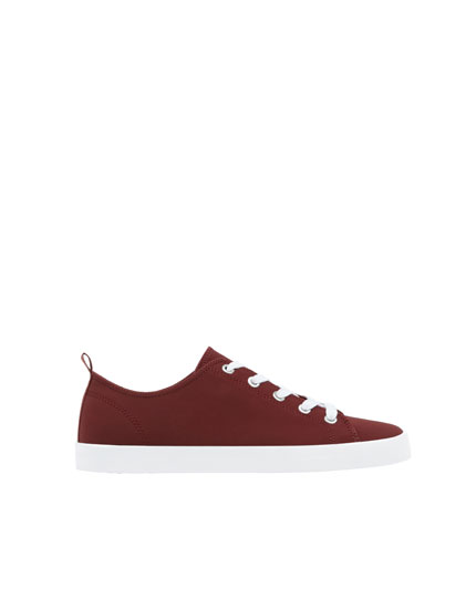 Burgundy school trainers