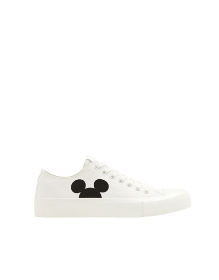 White Mickey Mouse trainers