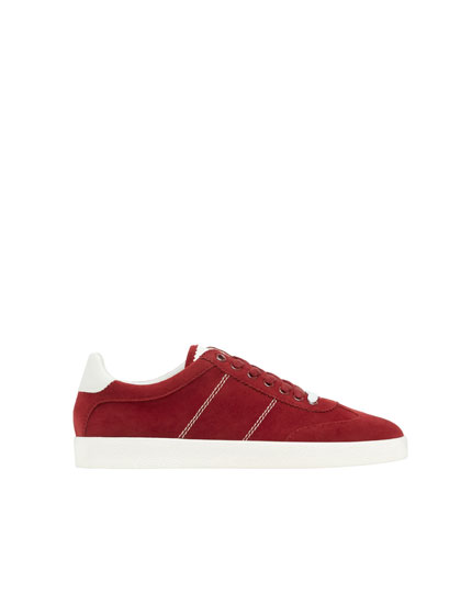 Basic-Sneaker in Granatrot