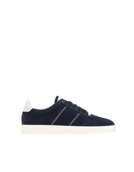 Basic-Sneaker in Marineblau