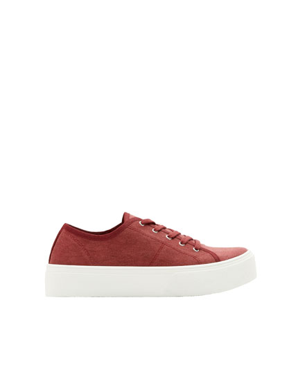 Bordeauxrote Sneaker Join Life