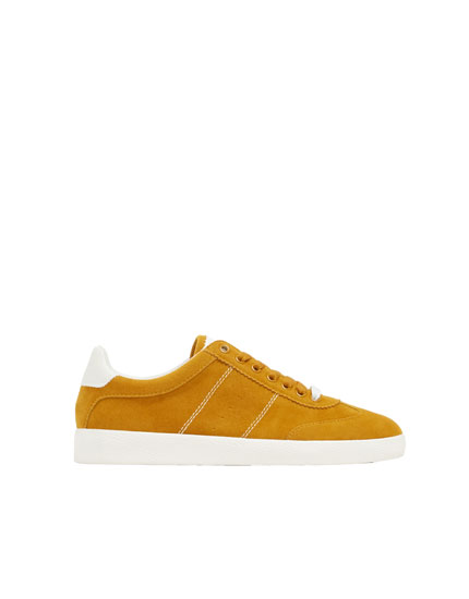 Basic mustard yellow trainers