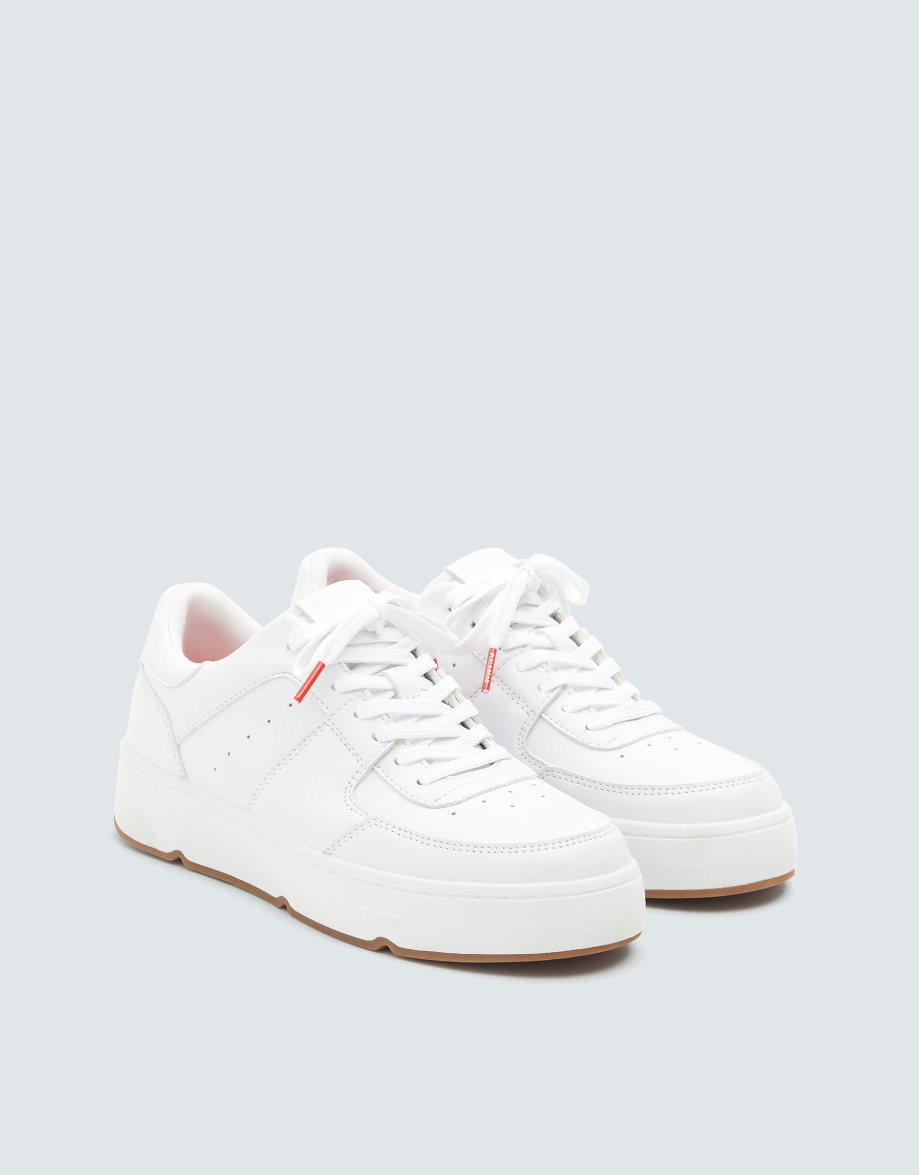 high quality free delivery classic styles Pull & Bear White school trainers at £29.99 | love the brands