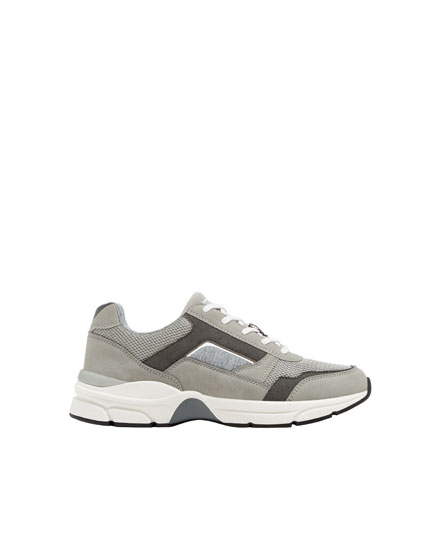 Grey urban fashion trainers