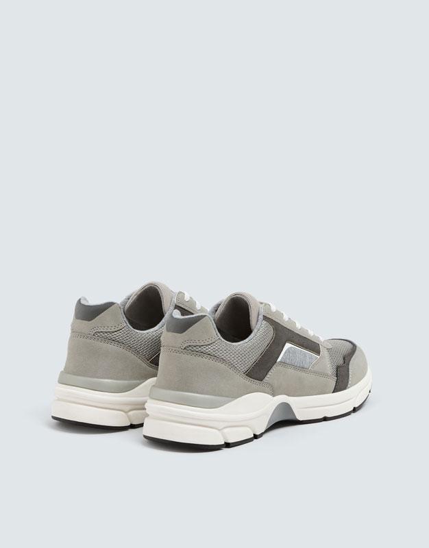 Pull & Bear - Modische, urbaner Sneaker in Grau - 3