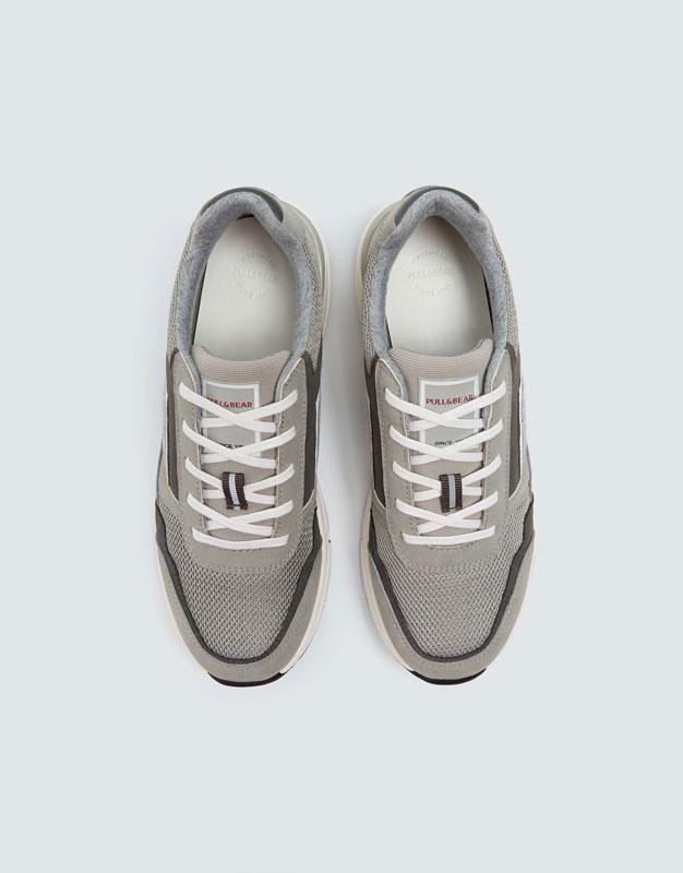 Pull & Bear - Modische, urbaner Sneaker in Grau - 4