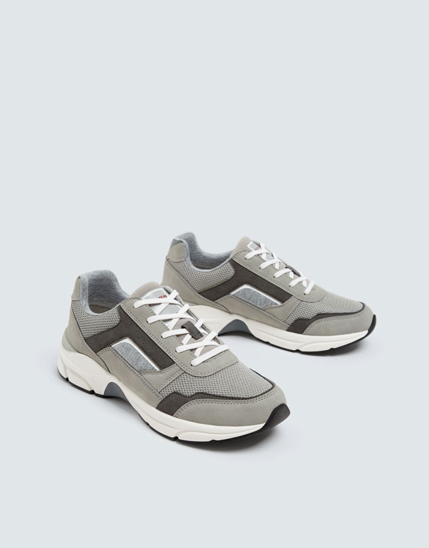 Pull & Bear - Modische, urbaner Sneaker in Grau - 5