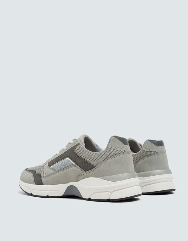 Pull & Bear - Modische, urbaner Sneaker in Grau - 6