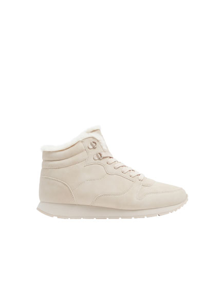 Basic beige winter trainers