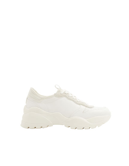 Chunky sole fashion trainers