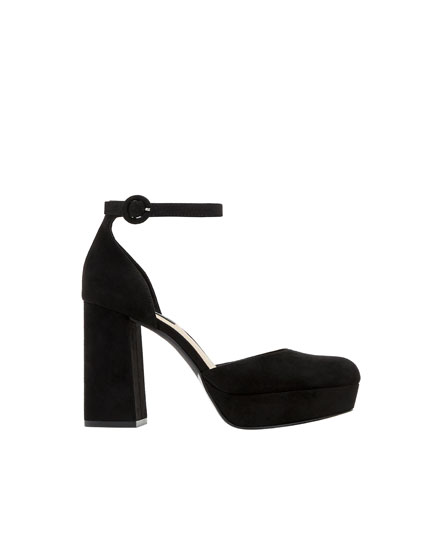 High-heel shoes with ankle straps