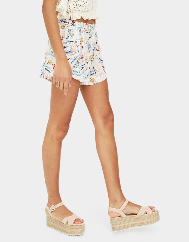Pull & Bear - Chunky wedges with criss-cross straps - 3