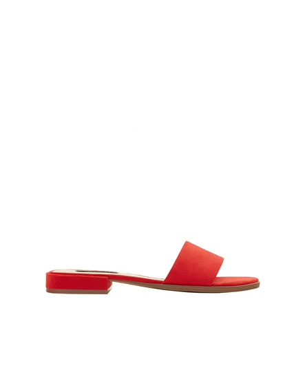 Coloured slide sandals