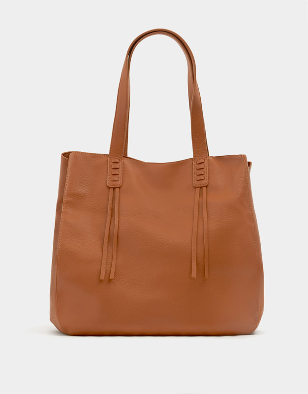 Pull & Bear - Sac cabas passants marron - 1