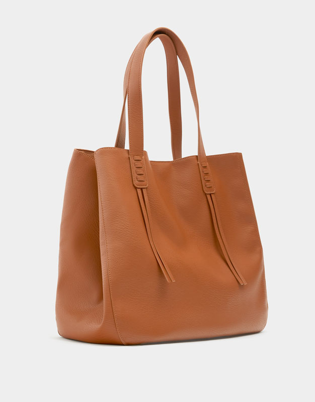 Pull & Bear - Sac cabas passants marron - 2