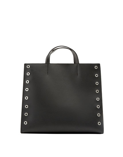Shopper negro tachas