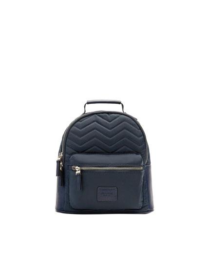 Vatteret, blå rygsæk