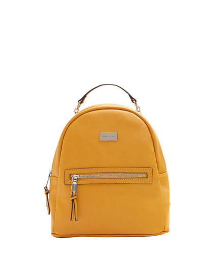 Mustard yellow urban backpack