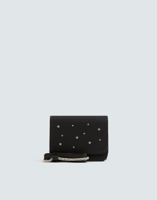 Черная сумка с деталями в виде звезд by Pull & Bear