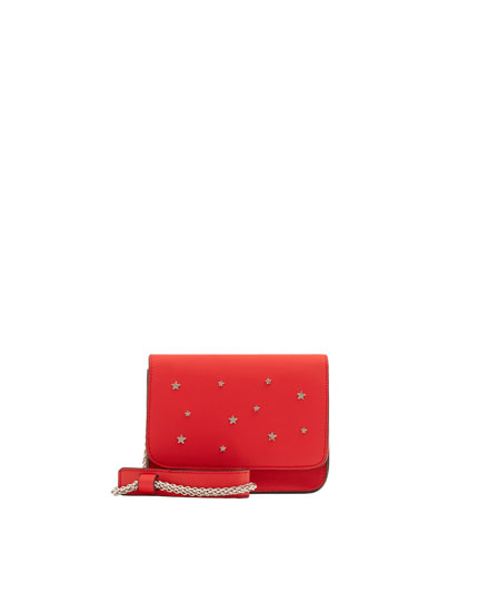 Red crossbody bag with stars