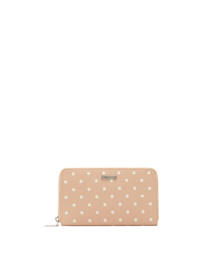 Pink polka dot purse