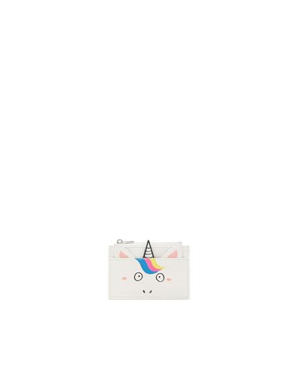 Kartentasche mit Einhornform