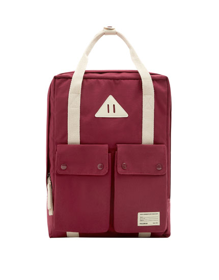 Burgundy school backpack