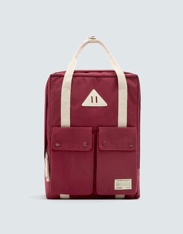 Bordowy Plecak School by Pull & Bear