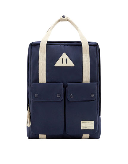 Blue school backpack