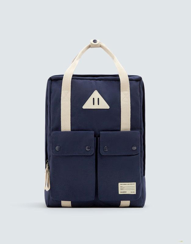 Blue School Backpack by Pull & Bear