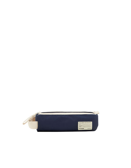 Blue school pencil case