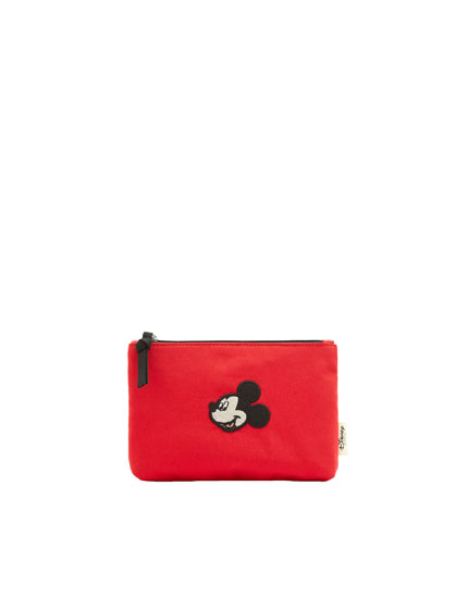Red Mickey Mouse toiletry bag