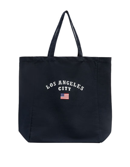 Fabric Tote Bag With Slogan