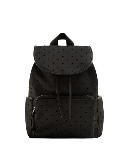 NYLON POLKA DOT BACKPACK