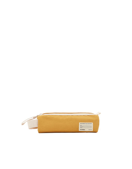 Mustard yellow school pencil case