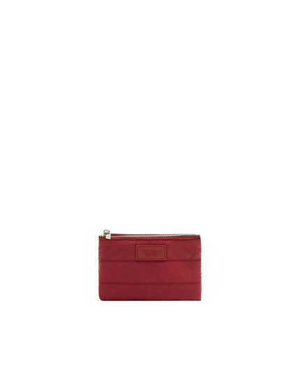 Maroon quilted purse