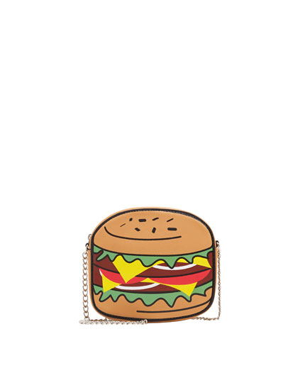 Geantă crossbody hamburger
