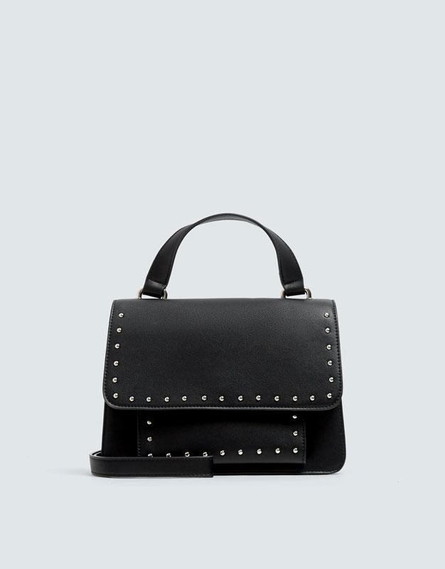 Черная сумка с заклепками by Pull & Bear